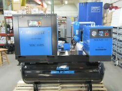 Air-Max 10hp.1 ph Rotary Screw air Compressor Wdryer120t 12 Year AIR-MAX Warran $6,690.00