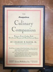 Signed  Esquire Culinary Companion Being An Exotic Cookery Book 1959 - cookbooks