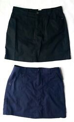 Croft amp; Barrow Womens Skirts With Pockets Blue And Black Size 6 Stretch $19.99