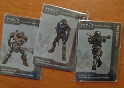 3 Halo Reach Collectible Emile Kat Jorge Metal Cards unused unopened MINT $19.99