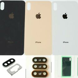 iPhone Xs Max Xs Back Glass Replacement Battery Cover Housing Camera Lens OEM $13.69