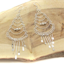 Exquisite Tiered Chandelier .925 Silver Earrings