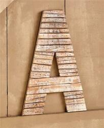 LARGE RUSTIC quot;Aquot; or quot;Rquot; MONOGRAM PALLET WOOD DOOR HANGING WALL SCULPTURE $29.98