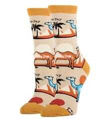 New OOOH GEEZ Brand Ladies 'HUMP DAY' Novelty Socks With Camels COMBED COTTON $9.99