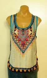 #7253 PRETTY! NEW JUNIORS SILKY TOP SIZE X LARGE $12.00