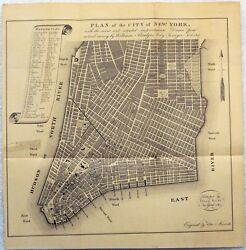 Original 1807 William Bridges Map of the City of New York Mangin-Goerck Plan NYC