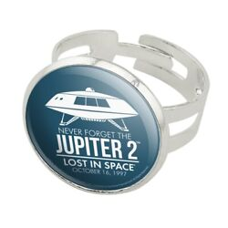 Jupiter 2 Lost In Space Spaceship Silver Plated Adjustable Novelty Ring $4.99