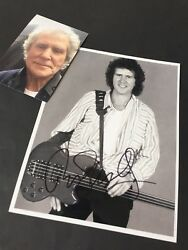 JOHN ILLSLEY Dire Straits in-person signed photo 8 x 10 including proof photo