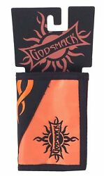 Godsmack Embroidered Sun Orange Nylon Wallet New NOS Official Band Merch NWT $12.99