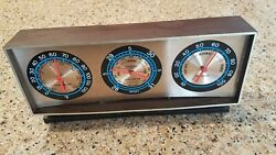 Vintage Plastic Springfield Instrument Company Desk Barometer Thermometer  $19.99