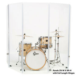 Acrylic Drum Shield Drum Screen DS65 L with Full length Hinges Total Height 6ft $374.58