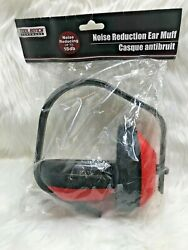 Tool Bench Noise Reduction Ear Muffs New up to 18db Red