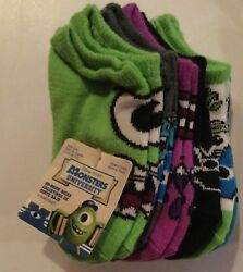 Monsters University Boys Socks Size 4 7.5 6 Pairs No Show $7.99