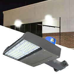 Shoe-box 150W LED Parking Lot Light Fixture With Dusk to Dawn Photocell 500W MH