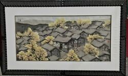 HUO GENZHONG 霍根仲 Village in the countryside Chinese Asian Art painting