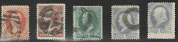 Nice Lot of 5 Fancy Cancels - Nice Stamps    L-128