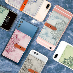 Mobile Phone Wallet Credit ID Card Holder Adhesive Pocket Sticker For Cell Phone