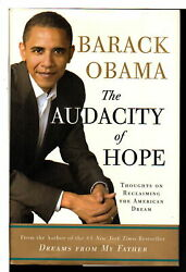 Barack Obama AUDACITY OF HOPE Thoughts on Reclaiming the American Dream 1st ed
