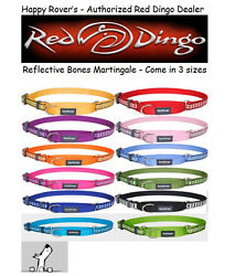 Premium Red Dingo Reflective Safety Dog Collar Martingale Pick Size Color $13.33