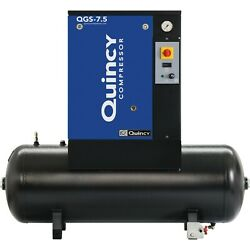 Quincy QGS Rotary Screw Compressor- 7.5 HP 208230460v  3Phase 60Gal 21.2 CFM