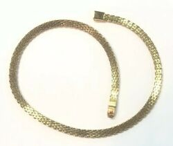 Gorgeous Gold Tone Signed MONET Multi-Linked Necklace Simple and Fun