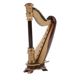 20cm Wooden 8-Strings Harp Musical Instrument with Box Home Desk Decoration $22.70