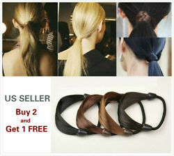 2Pcs Womens Straight Wig Elastic Hair Band Rope Scrunchie Ponytail Holder $5.99