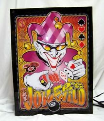 The Jokers Wild Light Box Lighted Sign  Poker Card TV Game - Man's Cave She Shed