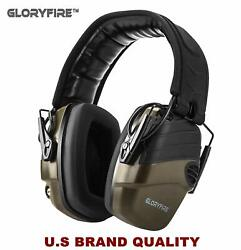 GLORYFIRE Electronic Shooting Earmuff Sound Amplification 6 Times Electric