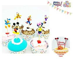Mickey Minnie goofy amp; pluto Cupcake Topper party Assorted Cupcake Pick 😍🎂 $6.40