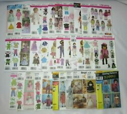 Simplicity Sewing Pattern 18'' Doll Clothes - Uncut - You Choose