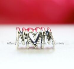 Authentic Pandora Silver Mother's Day Charm Mom Script 797778