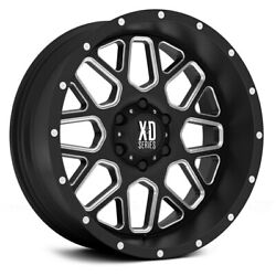 XD Series XD820 GRENADE Wheels 17x8.5 (0 5x114.3 72.6) Black Rims Set of 4