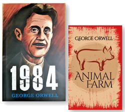 Animal Farm and 1984 by George Orwell 2 NEW Paperback Books Set $18.90