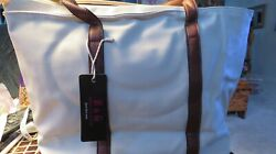 ESBAG-FAUX LEATHER STYLE HANDBAG- WITH HEAVY LINING INSIDE - LARGE IN WHITE