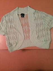 Rue 21 - Knit Cap Sleeved Over ShirtJacket - Size Small - Beige Juniors - New $4.00