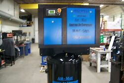 Air-Max 5 hp Rotary Screw Air Compressor 80 vertical 12 Year Warranty !!