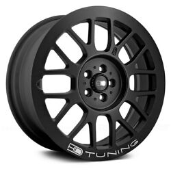 HD GEAR Wheels 18x7.5 (35 5x114.3 73.1) Black Rims Set of 4
