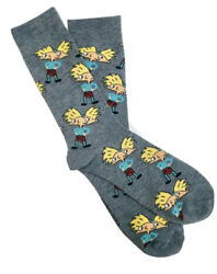 New Nickelodeon Mens Novelty Crew Socks HEY ARNOLD WEARING KILT Size 6 12 $5.99