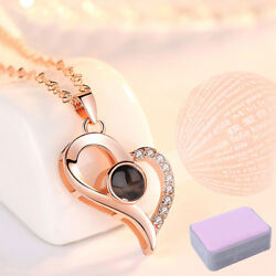 I LOVE YOU in 100 Languages  Projection Pendant Necklace For Memory of LOVE XR