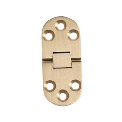 Solid Brass Butler Tray Hinge Round Folding Edge Hardware Parts XC