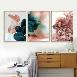 Canvas Painting Leaf Flower Picture Art Poster Wall Office Living Room Decor 1Pc