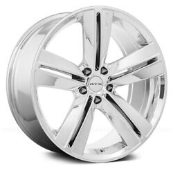 RTX SMS Wheels 17x7.5 (40 5x114.3 73.1) Chrome Rims Set of 4