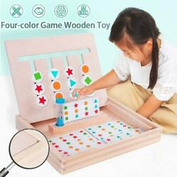 Colorful Wooden Early Educational Brain Development Learning Toy Kids Children