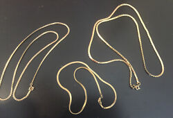 3 Gold Chains Costume Jewelry 7