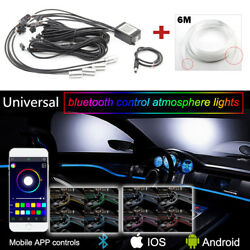 Multi-Color RGB Car LED Interior Neon Atmosphere Lights APP Bluetooth Control