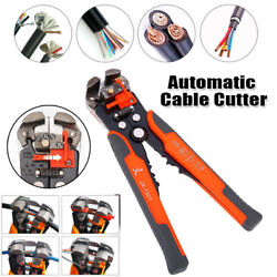 Multifunctional Tool Cable Wire Stripper Crimper Pliers Cutter Self-Adjusting $11.99