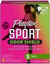 Playtex Sport Fresh Balance Tampons with Odor Shield Technology Super...