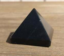 NATURAL BLACK OBSIDIAN MEDIUM GEMSTONE PYRAMID 27 30mm $6.49