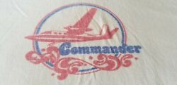 COMMANDER AIRPLANE VINTAGE 80S RAGLAN SLEEVE TEE SHIRT FITS LARGE $40.00